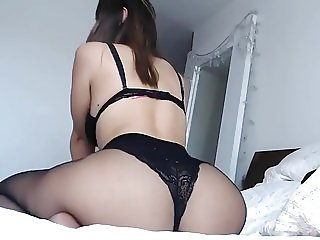Curvey brunette big ass and boobs in sexy lingerie