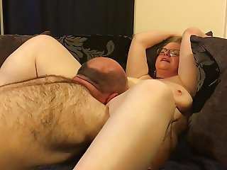 Blonde British Amateur Mrs T Gets Her Pussy Eaten