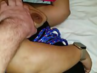 RICAN WIFEY TIED UP AND USED ON VALENTINES NICE CREAMPIE