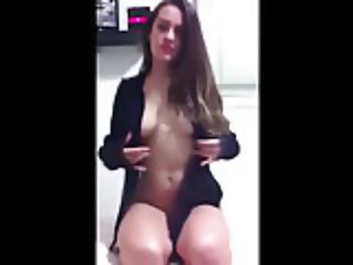 Cute Facebook Teen Fingering Her Pussy and Masturbating