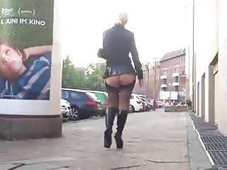 Malena High Heels, Stockings Public Walk