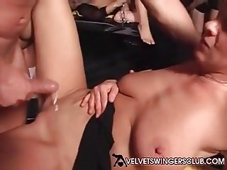 Velvet Swingers Club Just another day Another threesome