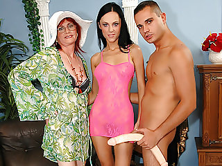 Young couple and a granny