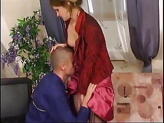 Russian mature Christie fucked by tv repairman