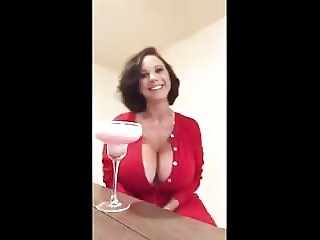 Big titty lady with a cocktail