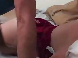 Babe in red with Big Boobs gets an Anal treatment