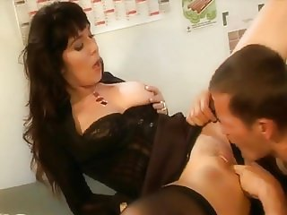 French Girl takes big cock