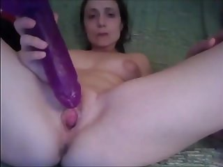 Married Whore Sucks and Gapes Pussy
