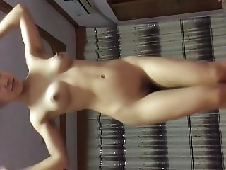 Asian MILF with hairy pussy fucks