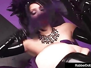 Bondage Queen RubberDoll Spanks Hot Latex Succubus Till Pink