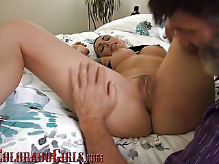 Cute Young Latina Gets Her hairy Pussy Filled With Old Cock