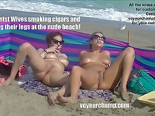Exhibitionist Wife Mrs Ginary Mrs Brooks Smoking Nude Beach!