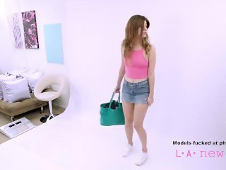 Teen fucked in the ass at photoshoot by casting agent