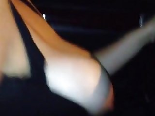 Tits out driving in the city