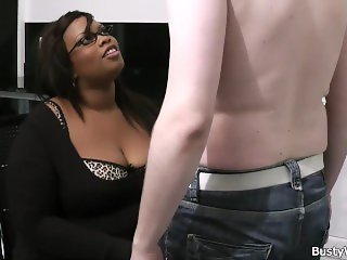 His fuck busty ebony plumper for the job