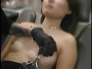 Cute Asian Gets Her Nipples Pierced