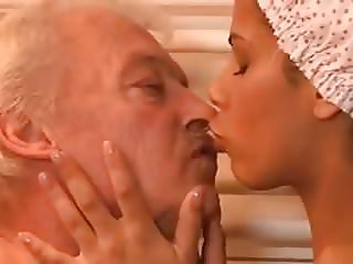 ebony isabella pleasures her old man in the shower