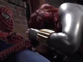 sexy black widow with her latex tits and ass