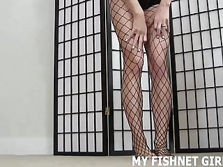 My fishnet stockings will get you cock rock hard JOI