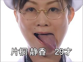 Japanese AV Actresses Show Off Their Tongues in Audition
