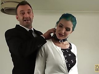 Alexxa Vice double penetrated and punished in hard theeway