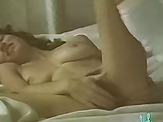Vintage hairy wife licked then fucked in bed