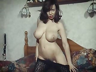 RUMBLED - vintage British huge boobs striptease hairy pussy