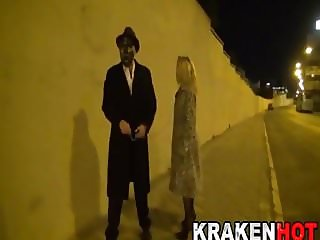 BDSM video on the streets with submissive mature