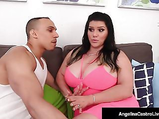 Cuban BBW Angelina Castro Drilled Doggy Style By Lucky Cock!