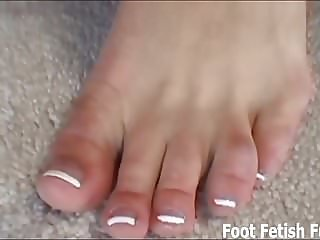 Lick my feet before I give you a footjob
