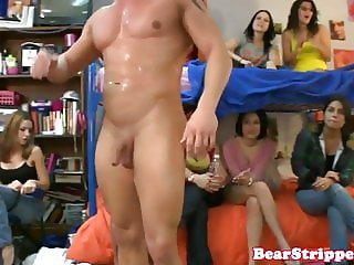 College babes cock suck and jerk stripper