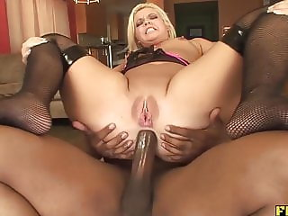 Big Assed Blonde Taking That BBC Up The Ass