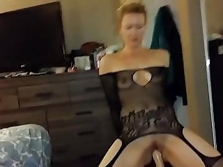 Mormon wife dildo ride