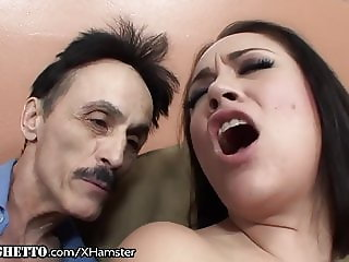 Big Dick Old Man Dirty Fucks His Latina Teen Step Daughter