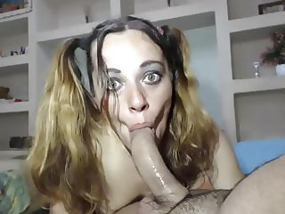 Very energizing babe sucking deepthroat blowjob & anal sex