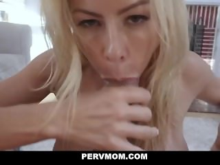 PervMom - Blonde Milf With Huge Tits Gets Rammed