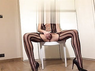 the pantyhose, the shoes, the eroticism the slave for you