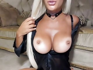 Busty Blonde On Cam