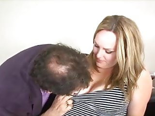 Cute married chubby blonde cheats with her boss