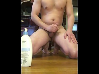 Kneeling Jerk with Lotion