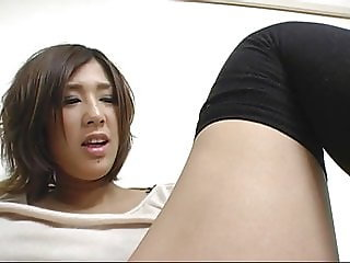 Japanese Woman In Black Stockings