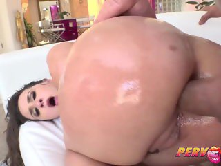 Anal Creampie for Bubble Butt Slut Ashley Adams