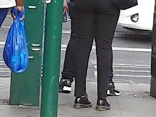 Candid Office booty in black trouser