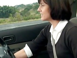 Masturbating In Her Car.
