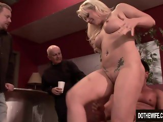 Blonde Wife Heidi Mayne Takes It Up the Ass While Her Cuck Watches
