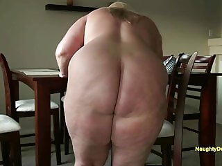 A very tempting big round butt