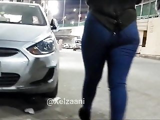 Egyptian girl tight jeans hot body Voyeur- Candid Ass - S01