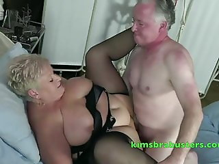 Older Nurse gets rammed by a patient