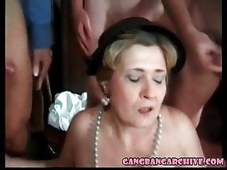 Gangbang Archive Granny loves BBC too Mature orgy