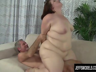 BBW Cherie A Lunas gets her pussy munched before fucking